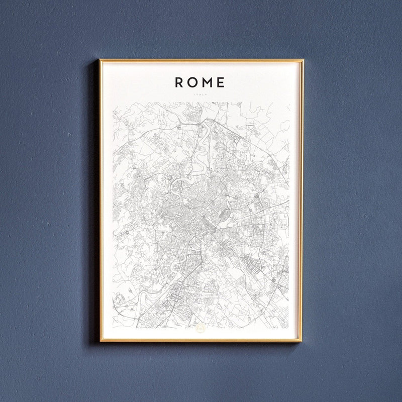 Rome, Italy Map