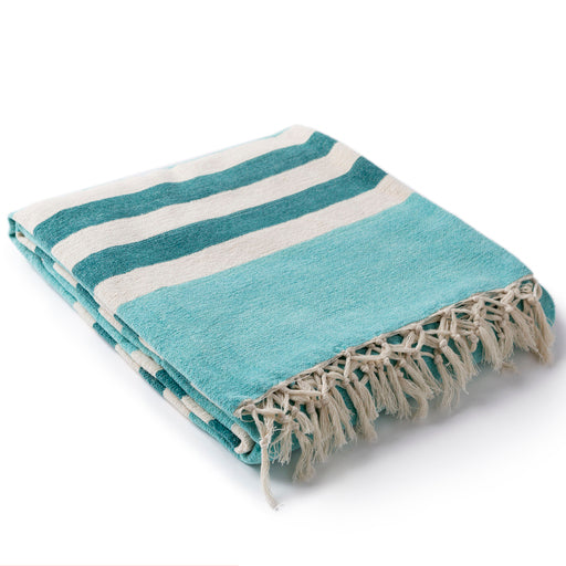 Zach Mint Striped Throw