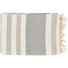 Zach Light Gray Striped Throw