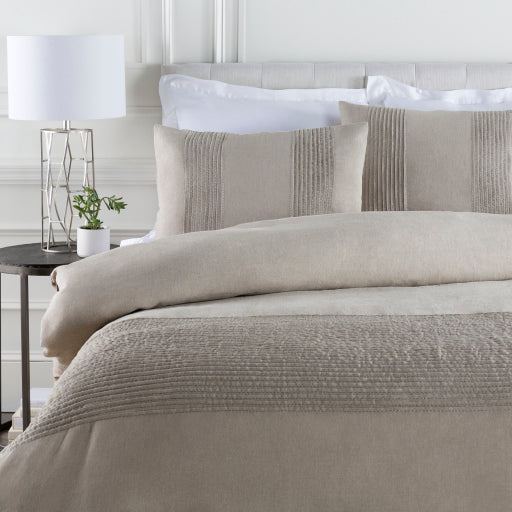 Uptown Chic Duvet Set, Light Gray
