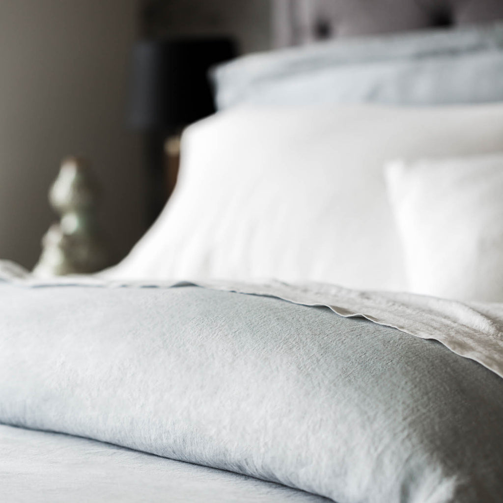 French Linen Duvet Set Flax