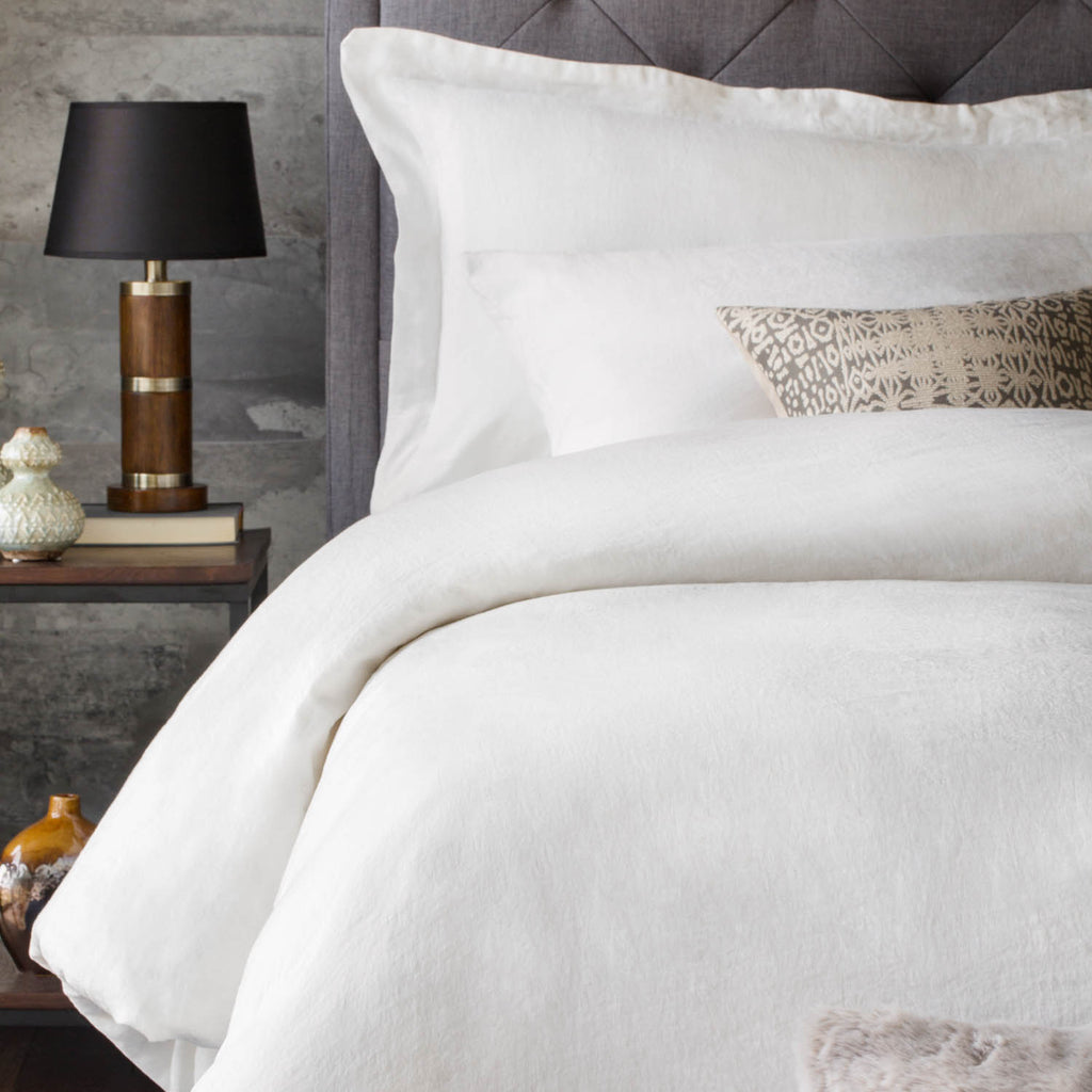 French Linen Duvet Set White