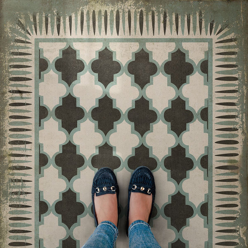 "Pattern 10 ""Taj Mahal"" Vinyl Floorcloth"