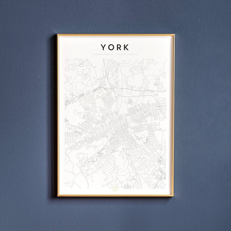 York, Pennsylvania Map