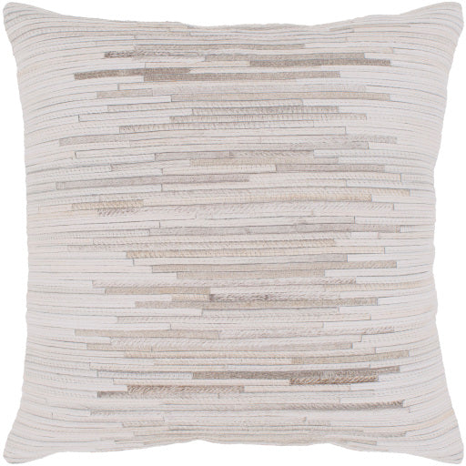 Baskin Hair On Hide Pillow, Cream