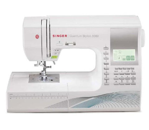 Singer 9960 Quantum Stylist Sewing Machine inc. Hard Cover, Extension Table And Walking Foot