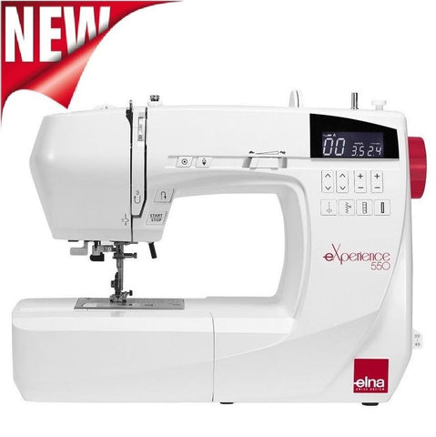 Elna Experience 550 Sewing Machine * New 2018 Model * 50 Stitch Patterns + Extension Table And Hard Cover