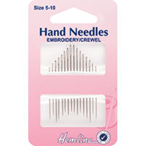 Embroidery/Crewel Needles - HobbySew