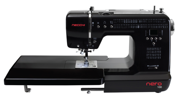 Necchi Nero 100 Sewing Machine * Sews Letters and Numbers * Includes Free Extension Table