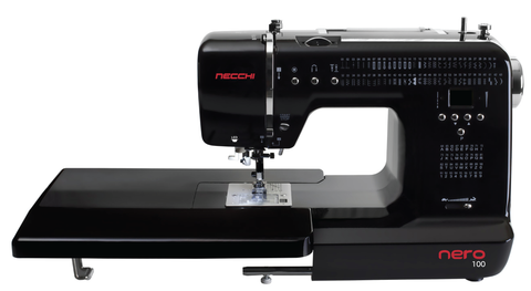 Necchi Nero 100 Sewing Machine - Special Limited Edition With Extension Table * Delivered In December - Christmas Special Offer *