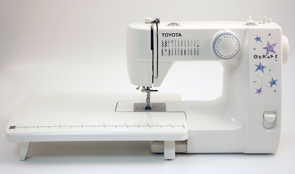 Toyota Oekaki 24RS includes Extension Table (inc. Drop feed for free motion sewing)