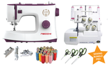 Sewing Bundle Pro - Necchi Powerstitch 132 Sewing Machine & Toyota SL3487 Heavy Duty Overlocker + FREE accessories worth £107.99