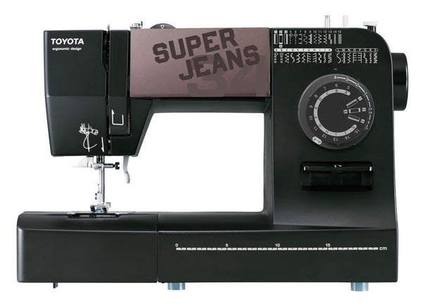 Toyota * Power Range * Super Jeans 34 Sewing Machine (Black) - Free Glide Foot, Sews Silk To Leather *