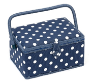 Poka Dot Sewing Box (Small) - HobbySew