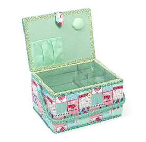 Patchwork Floral Sewing Box (Large) - HobbySew