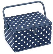 Polka Dot Navy Box (Large) - HobbySew