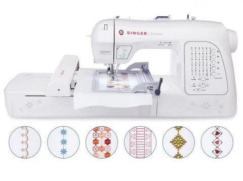 Singer Futura Xl420 Sewing Machine Sewing & Embroidery Machine With New Continuous Embroidery Hoop