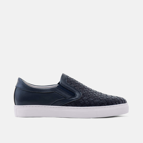 Blue-Bomber Navy Woven Sneakers
