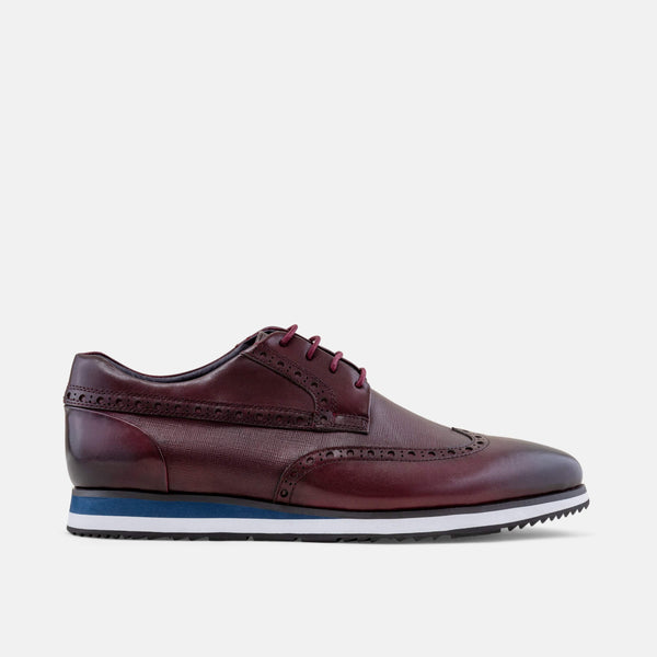 Gavin Burgundy Wingtip Sneakers