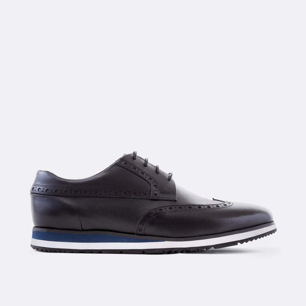 Gavin Black Wingtip Sneakers