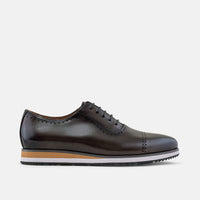 Vinnie Grey Quarter Brogue Sneakers - Marc Nolan