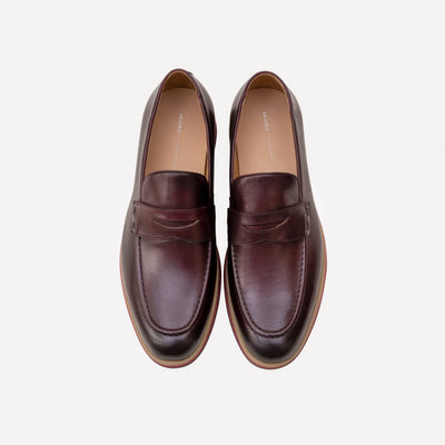 Ace Wine Penny Loafers - Marc Nolan