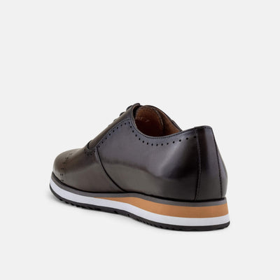 Vinnie Grey Quarter Brogue Sneakers