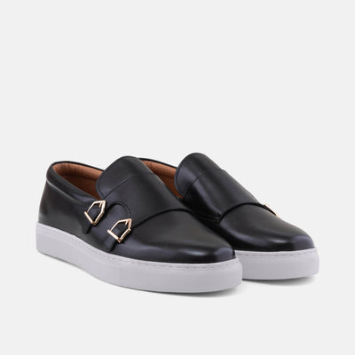 Kyler Black Monk Strap Sneakers