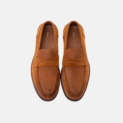 ABE CARAMEL PENNY LOAFERS
