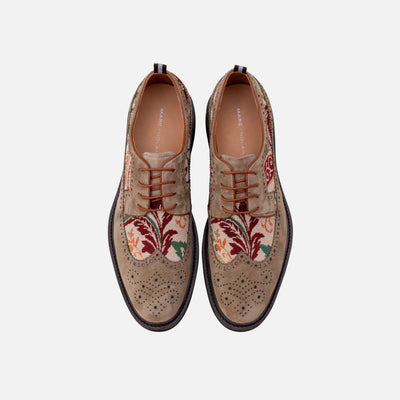 August Olive Wingtip Lace Ups