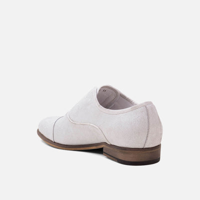 Brody White Cap-Toe Loafers