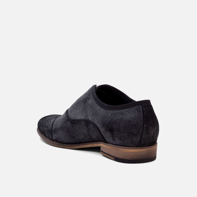 Brody Grey Cap-Toe Loafers
