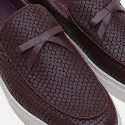 Odell Burgundy Belgian Loafer Sneakers