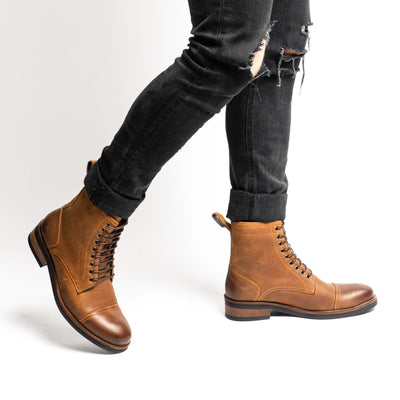 Shop men's cap toe boots like Chance from Marc Nolan and get free shipping in the US.
