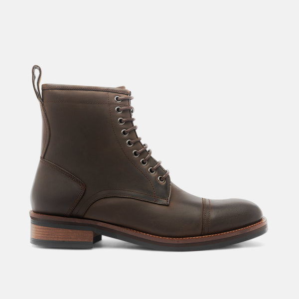 Chance Tobacco Cap-Toe Boots