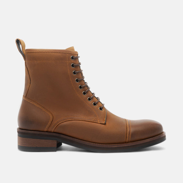 Chance Copper Cap-Toe Boots