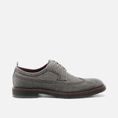 August Grey Wingtip Lace Ups