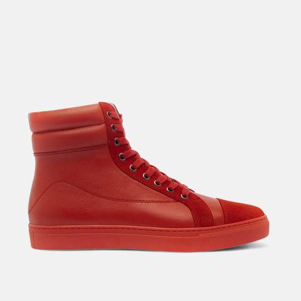 Chances Crimson High-Top Sneakers