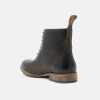 Jake Washed Grey Cap Toe Boots