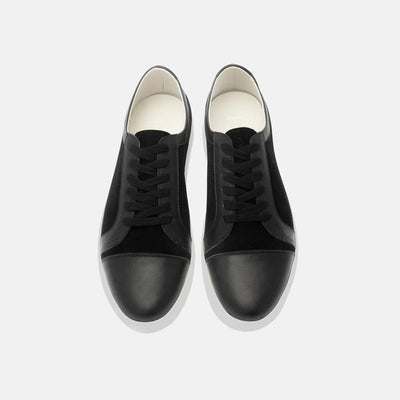 Basic Black Lace Up Sneakers for Women