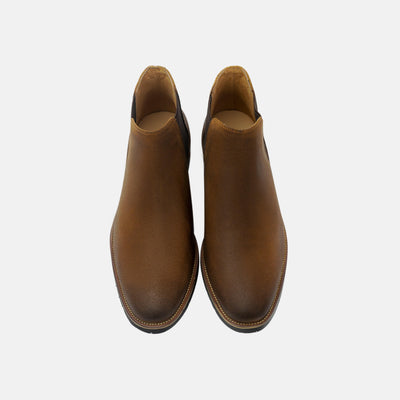 Gentry Brushed Stone Chelsea Boots