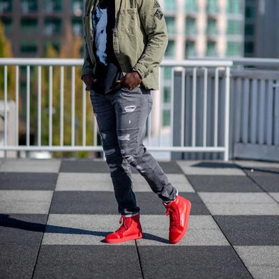 The Chances red sneakers for men are the stylish and statement-making shoes perfect for every outfit.
