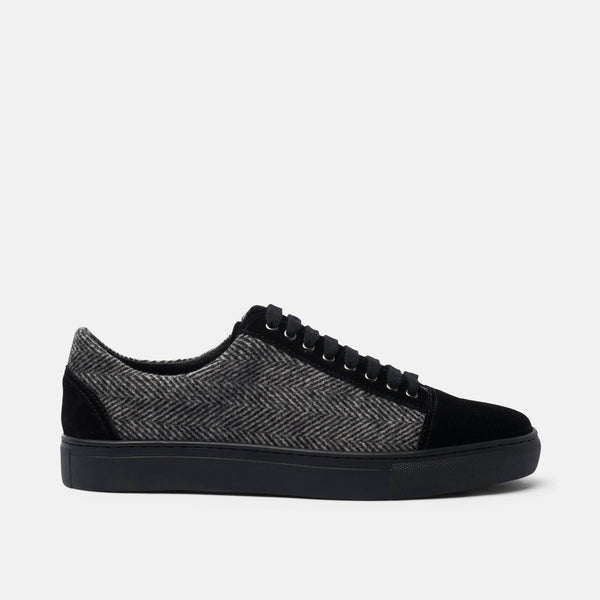 Venice Black Lace Up Sneakers