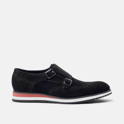 Palmer Black Monk Strap Sneakers