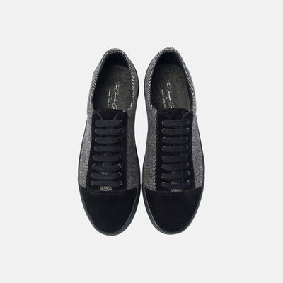 Venice Black Lace Up Sneakers - Marc Nolan
