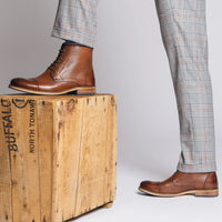 Jake Walnut Cap-Toe Boots