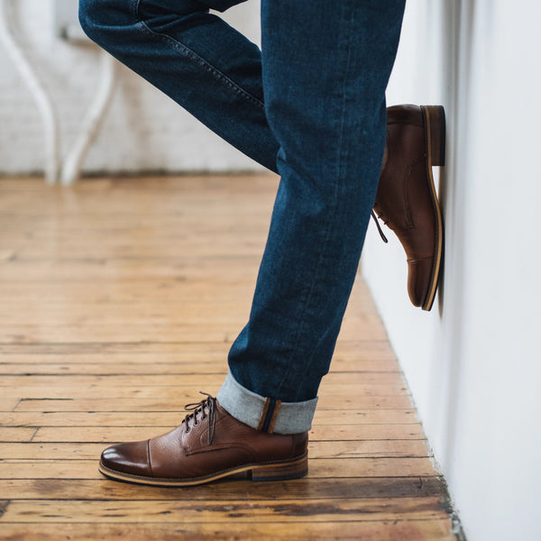 Jake Walnut Cap Toe Lace Ups