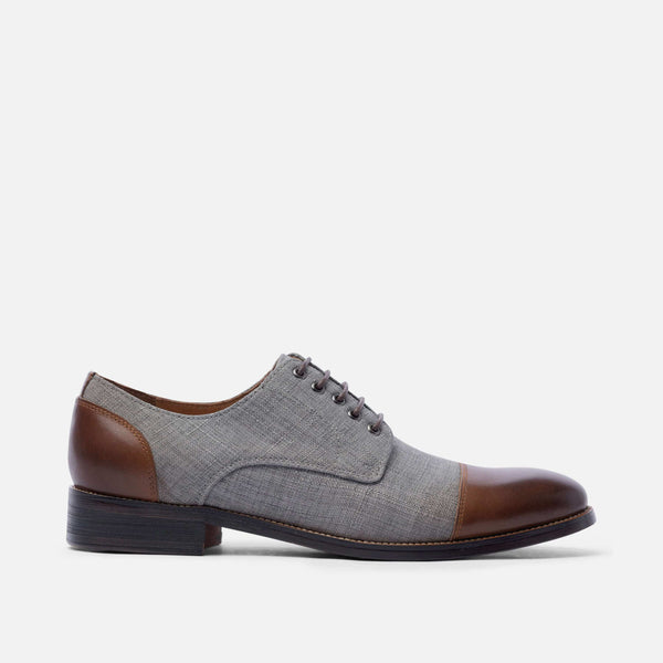 Josh Walnut Cap-Toe Lace Ups