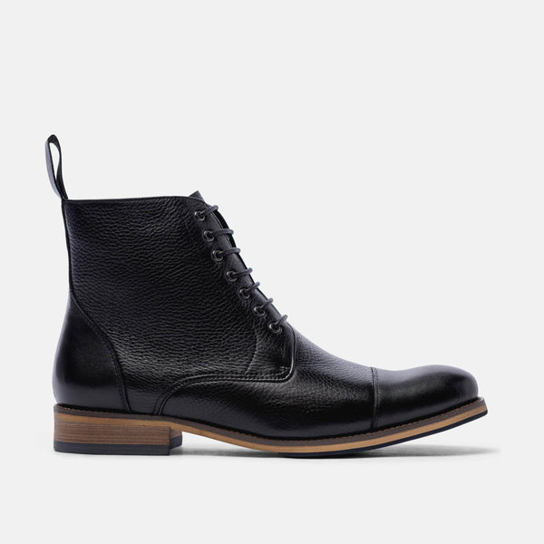 Jake Black Cap Toe Boots