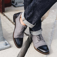 Josh Black Cap-Toe Lace Ups - Marc Nolan